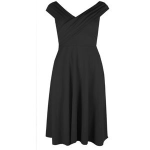 Boohoo Pleated Over the Shoulder Skater Dress